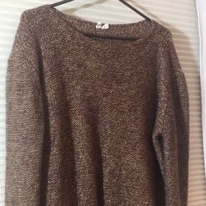 Anthropologie Tops - Anthropologie - Moth - Brown and gold sweater